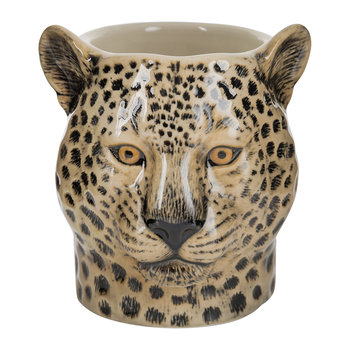 Ceramic Leopard Pen Pot