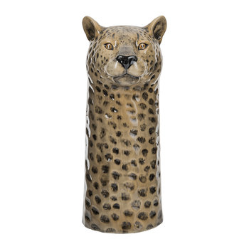 Ceramic Leopard Vase - Large