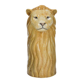 Ceramic Lion Vase - Large