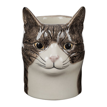 Ceramic Moggy Pen Pot - Millie