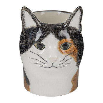 Ceramic Moggy Pen Pot - Poppet