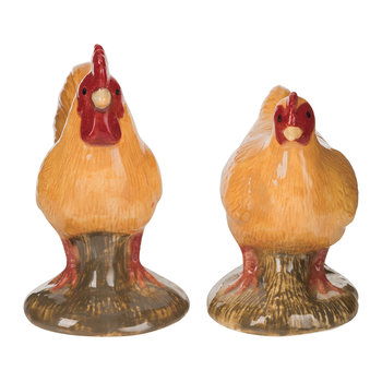 Chicken Salt & Pepper Shakers - Buff Orpington