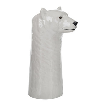 Ceramic Polar Bear Vase - Large