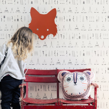 Fox Wall Lamp - Red Orange