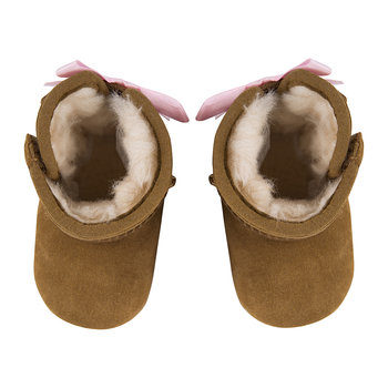 Jesse Bow II Infant Boots - Chestnut
