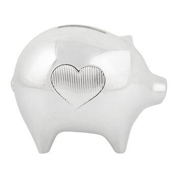 Grosgrain Silverplate Baby Piggy Bank