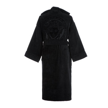 Medusa Classic Hooded Bathrobe - Black