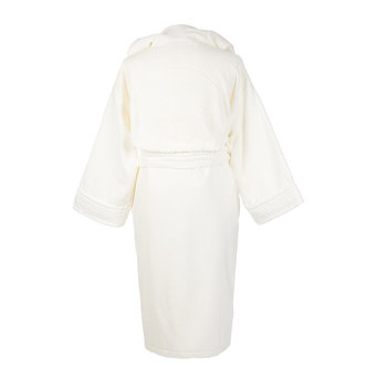 Medusa Classic Hooded Bathrobe - Ivory