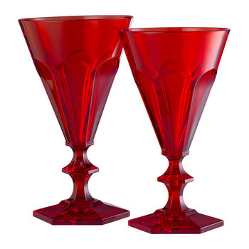 Giada Acrylic Wine Glass - Red