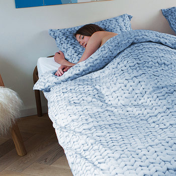 Twirre Duvet Set - Blue - Single