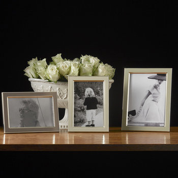 Light Grey Enamel Photo Frame