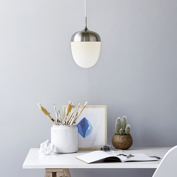 Acorn E27 Pendant Light - White
