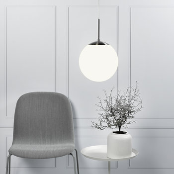 Cafe Pendant Light - Opal White