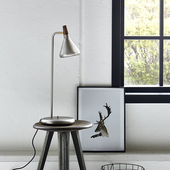 Float Table Lamp - Brushed Steel