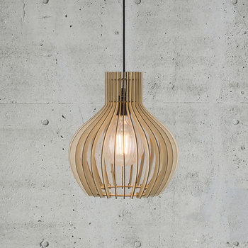 Groa E27 Wood Pendant Light