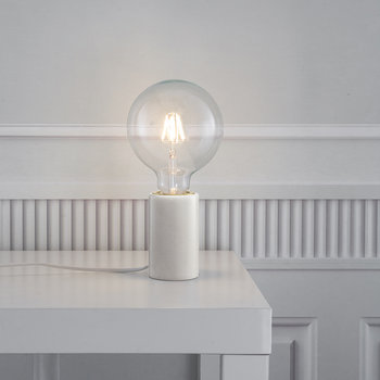 Siv E27 Table Lamp - Small - White