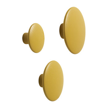 The Dots Coat Hook - Mustard