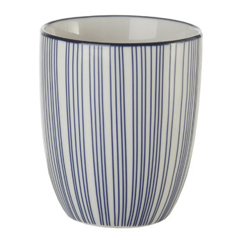 Assorted Check & Stripe Cups - Set of 4