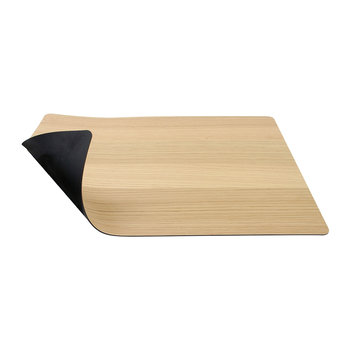 Reversible Soft Bull Table Mat Square - Oak/Black