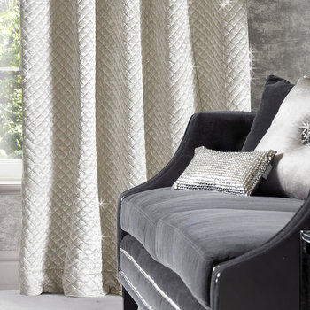 Grazia Lined Eyelet Curtains - Oyster