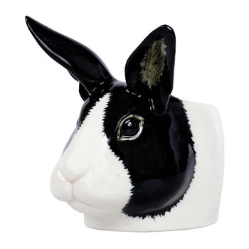 Rabbit Egg Cup - Black/White