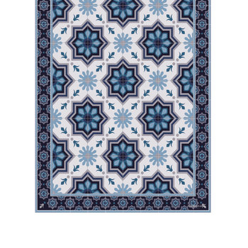 Collection Ceramic Vinyl Runner - Blue - 66x198cm