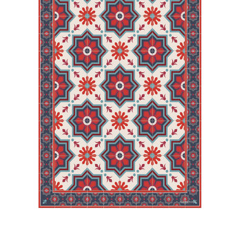 Collection Ceramic Vinyl Runner - Red - 66x198cm