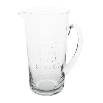 First Come First Served Pitcher