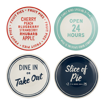 Order's Up Appetiser Plates - Set of 4