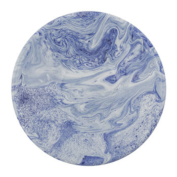 Soft Ice Deep Plate - Enamelled Steel - Blue