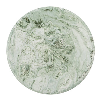 Soft Ice Lunch Plate - Enamelled Steel - Green