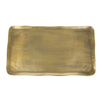 Antique Brass Rectangular Platter