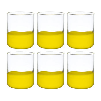 Spot Tumblers - Set of 6 - Yellow