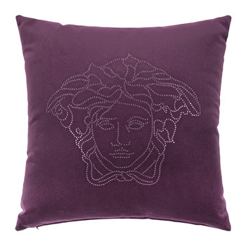 Medusa Studs Cushion - 45x45cm - Purple