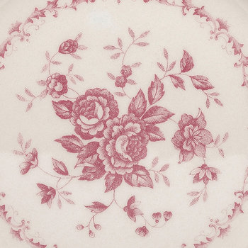 Rose Patterned Side Plate - Pink