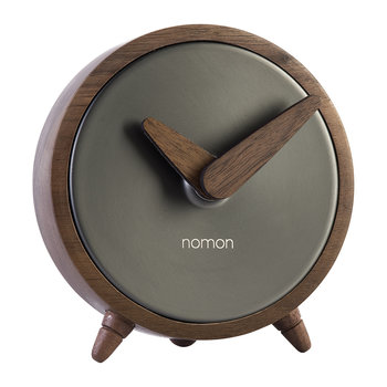 Atomo Table Clock - Walnut/Graphite