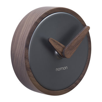 Atomo Wall Clock - Walnut/Graphite