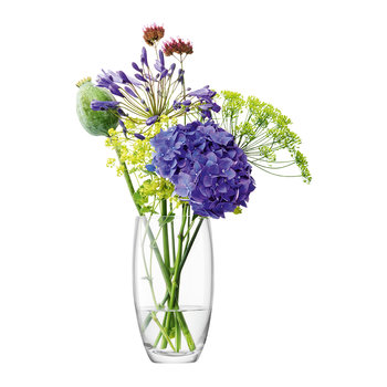 Flower Barrel Bouquet Vase - Blown Glass