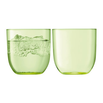 Hint Blown Glass Tumbler - Set of 2 - Pale Lime