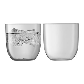 Hint Blown Glass Tumbler - Set of 2 - Pale Slate