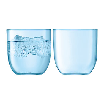 Hint Blown Glass Tumbler - Set of 2 - Pale Turquoise