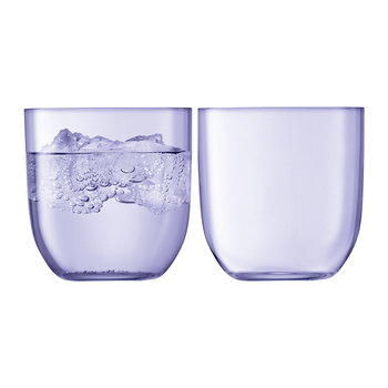Hint Blown Glass Tumbler - Set of 2 - Pale Violet