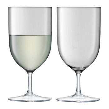Hint Blown Wine/Water Glass - Set of 2 - Pale Slate