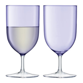 Hint Blown Wine/Water Glass - Set of 2 - Pale Violet