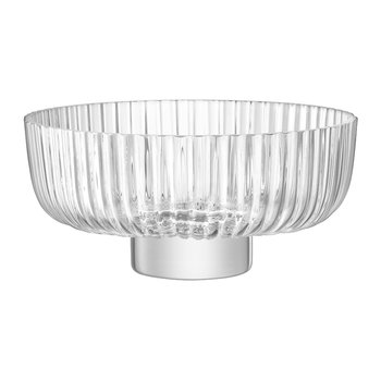 Pleat Footed Glass Bowl