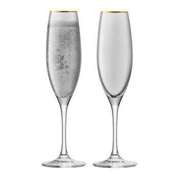 Sorbet Champagne Flute - Set of 2 - Licorice