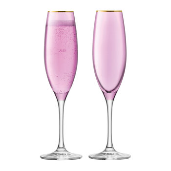 Sorbet Champagne Flute - Set of 2 - Rose