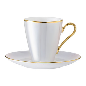Sorbet Coffee Cup & Saucer - Set of 2 - Nougat