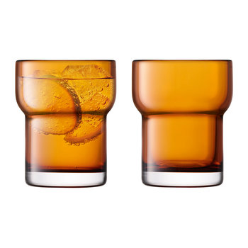 Utility Blown Glass Tumbler - Set of 2 - Amber