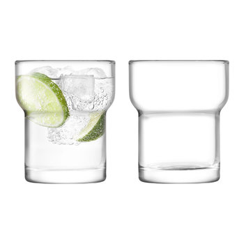 Utility Blown Glass Tumbler - Set of 2 - Clear